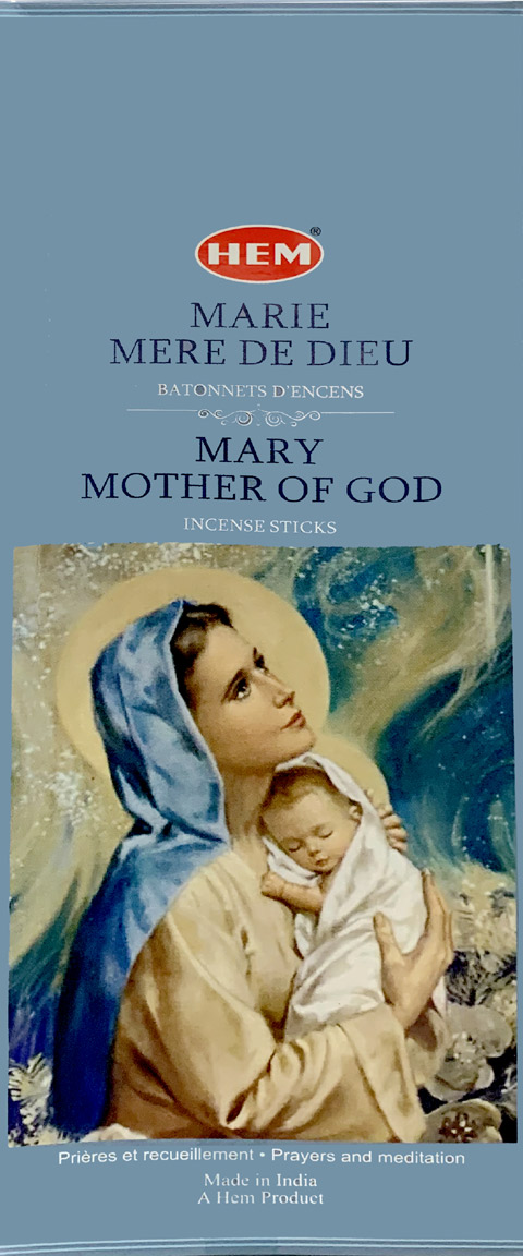 Incenso hem Maria madre di Dio hexa 20g