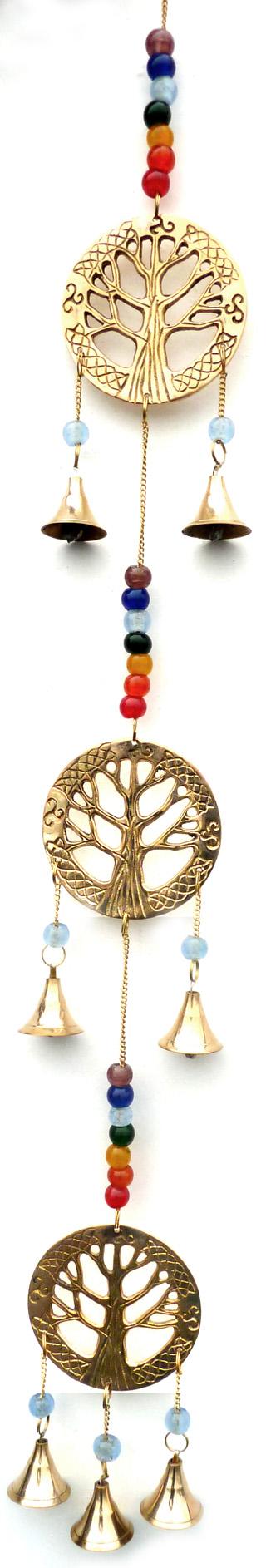 Carillon arbre de vie & cloches chakra 55cm