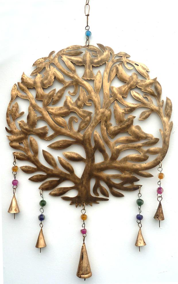 Carillon arbre de vie métal 64cm