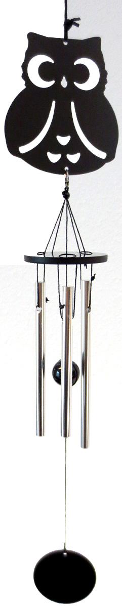 Mobile metal & aluminium hibou 32cm