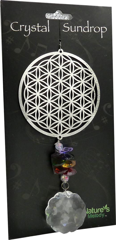 Mobile Cosmos Fleur de vie & Cristal 19cm