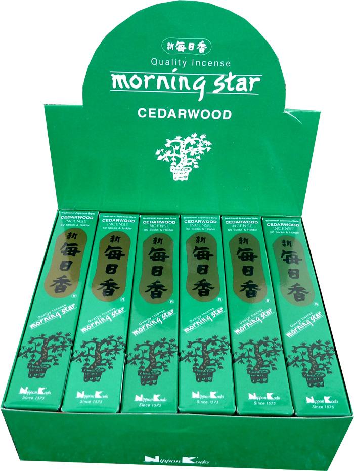 Encens japonais morning star cedre paquet de 50 sticks