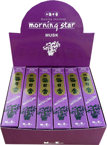 Encens japonais morning star musk 50bts