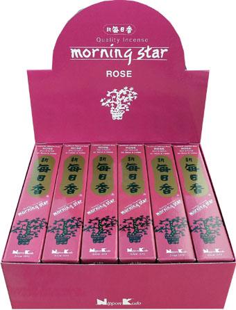 Encens japonais morning star rose paquet de 50 sticks