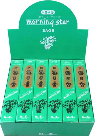 Encens japonais morning star sauge 50bts