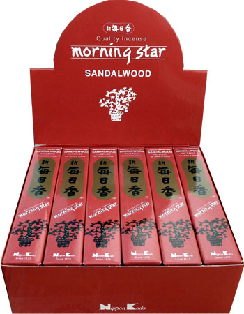 Encens japonais morning star bois de santal paquet de 50 sticks