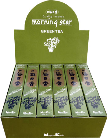 Encens japonais morning star thé vert paquet de 50 sticks