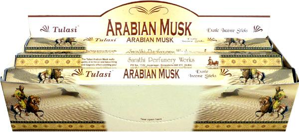 Encens tulasi sarathi arabian musk hexa 20g