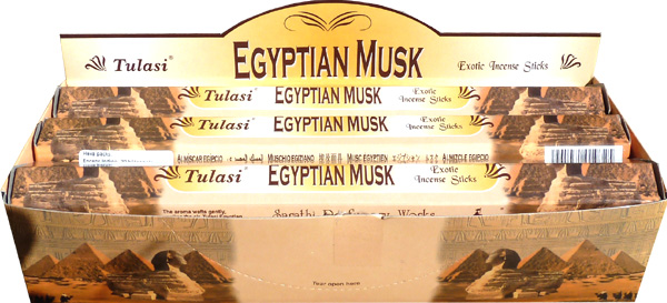 Encens tulasi sarathi musk egyptien hexa 20g
