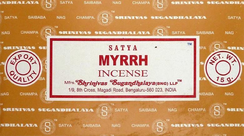 Incenso satya Myrrh champa 15g