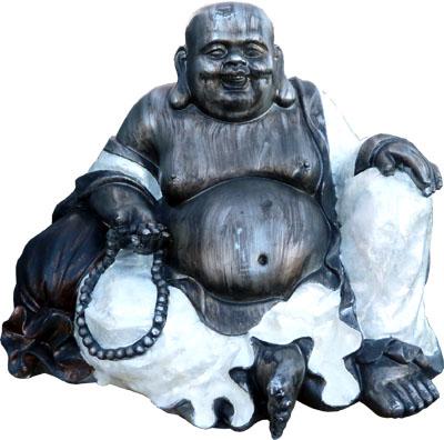 Bouddha chinois résine & nacre 49cm