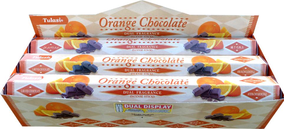 Incense tulasi sarathi chocolate orange hex 20g