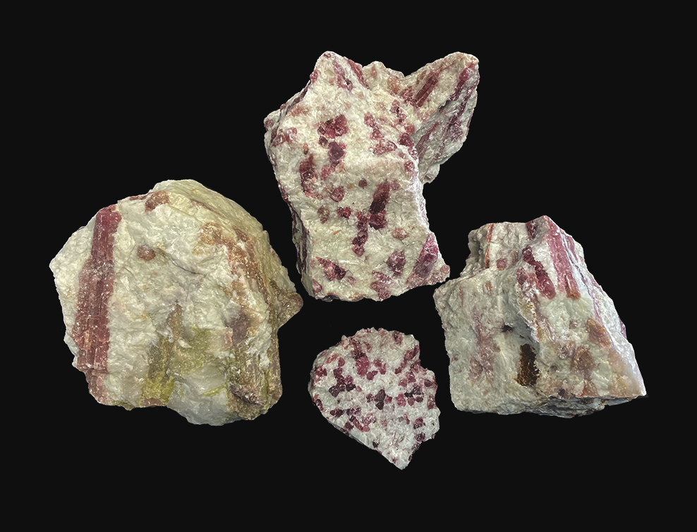 Pink tourmaline rough 500g
