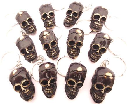 Porte de clé tête de mort x12