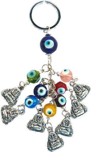 Porte clé bouddha contre le mauvais oeil x6