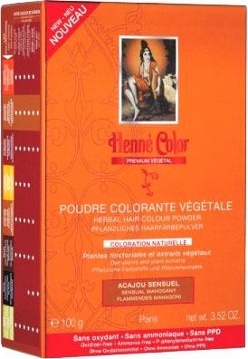 Poudre colorante végétale premium acajou sensuel 100g
