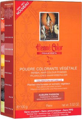 Poudre colorante végétale premium auburn passion 100g