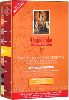 Poudre colorante végétale premium blond rayonnant 100g
