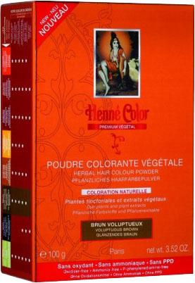 Poudre colorante végétale premium brun voluptueux 100g