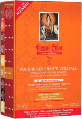 Poudre colorante végétale premium chatain sublime 100g