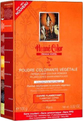 Poudre colorante végétale premium cuivre flamboyant 100g
