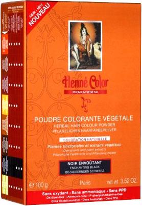 Poudre colorante végétale premium noir envoutant 100g