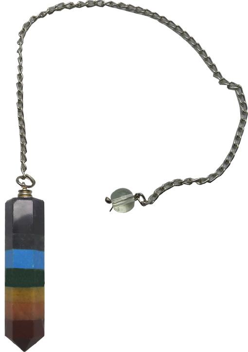 Pendule pierres 7 chakras 5cm