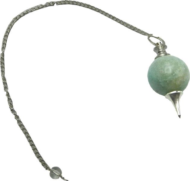 Pendule sphère jade verte