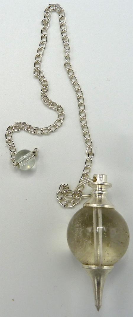 Pendule sphère quartz fumé 3cm