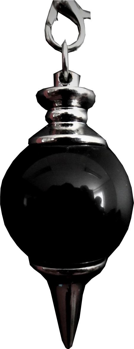 Pendule sphère onyx noir 4cm