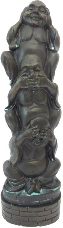 Porte encens tour bouddha de la sagesse noir 27cm