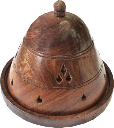 Porte encens cones en bois cloche 11cm
