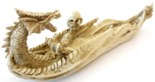 Incenso titolare drago bianco e gru 26 centimetri