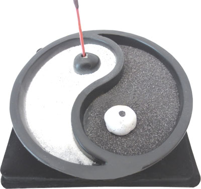 Porte encens ying yang 9.50cm