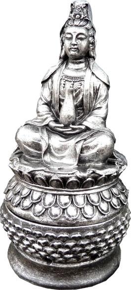 Porte encens tara résine gris 18cm
