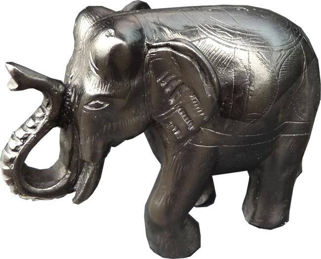 Porte encens résine éléphant 9x7cm