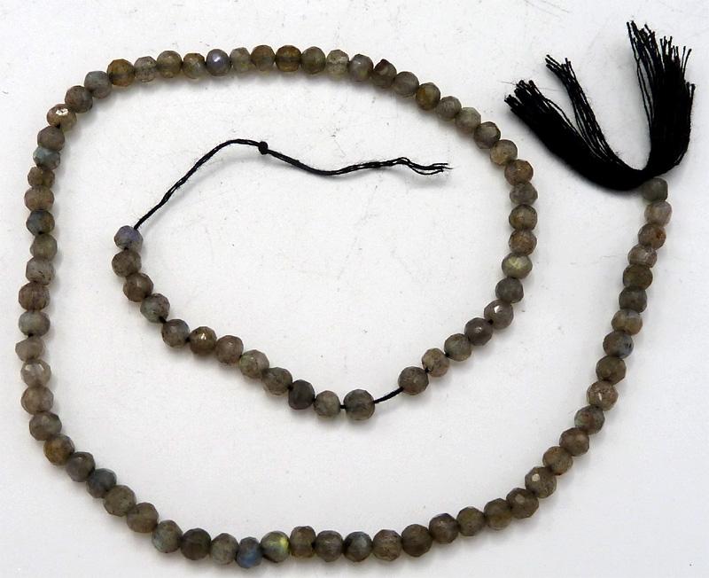 Labradorite faceté perles 5mm sur fil 40cm