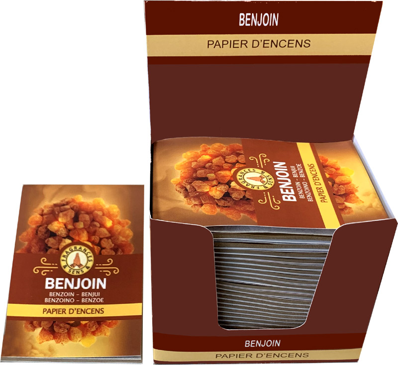 Benzoin Fragrances & Sens Incense paper x30