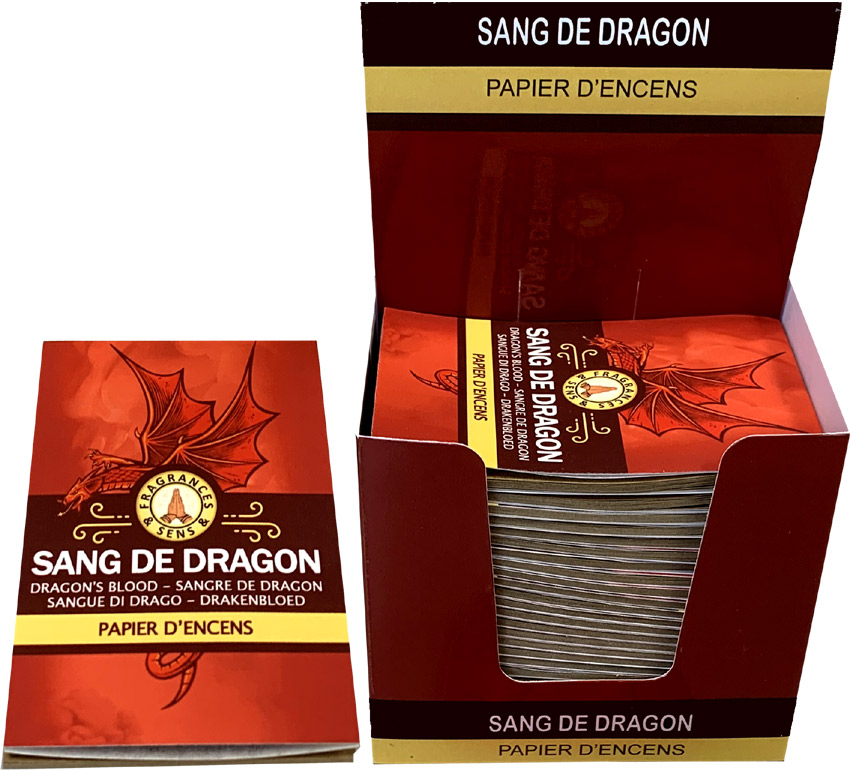 Dragon's Blood Fragrances & Sens Incense paper x30