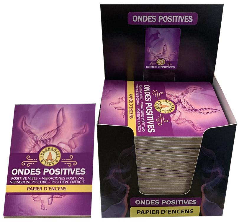 Papier d'encens Fragrances & Sens Positive Vibes x30