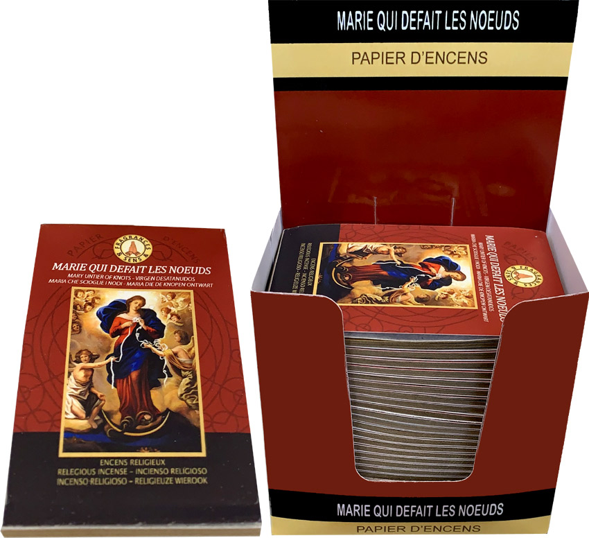 Mary untier of knots Fragrances & Sens Incense paper x30