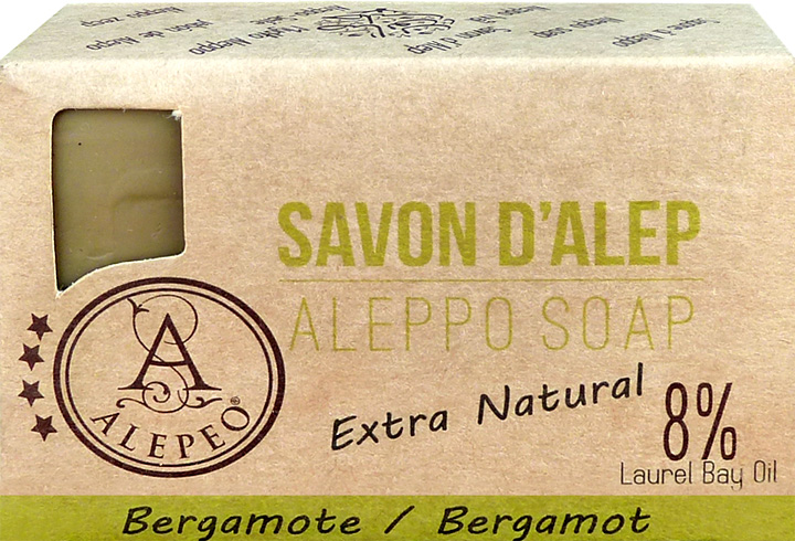 Savon d'alep alepeo bergamote 8% 100g
