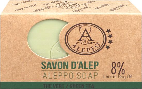 Savon d'alep alepeo thé vert 8% 100g