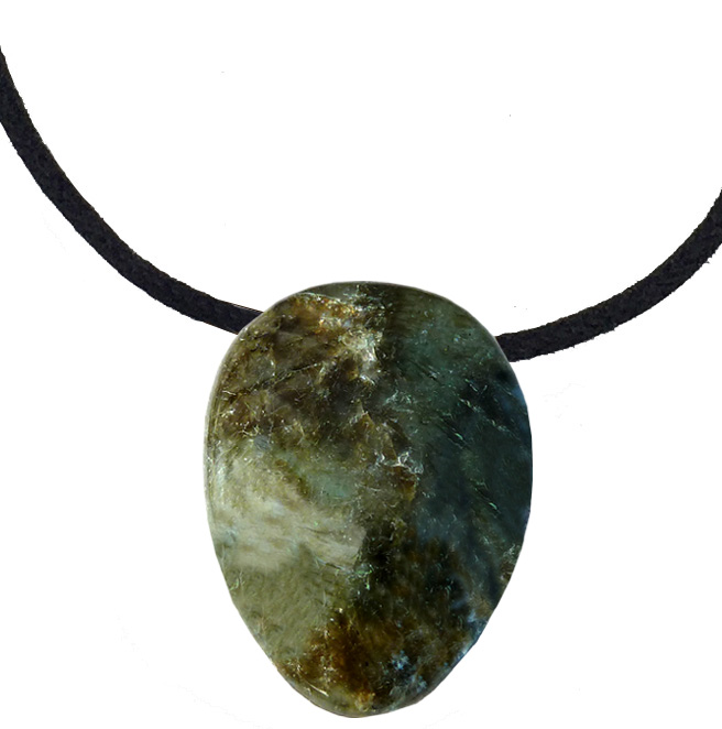 Labradorite pierre roulée percée 3cm