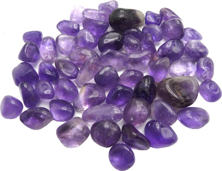 Amethyste chevron small A pierres roulée 250g