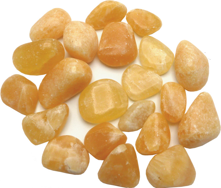 Calcite orange pierres roulées 250g