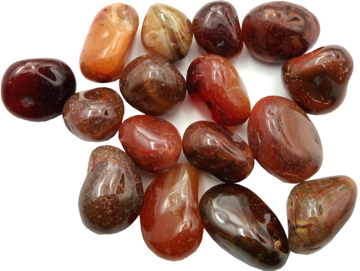 Cornalian tumbled AAA stones 250g