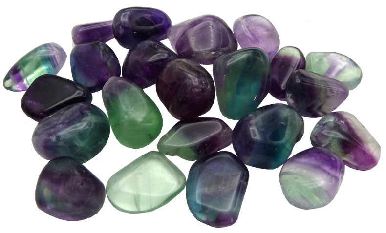 Fluorite multicolore extra pierres roulées 250g