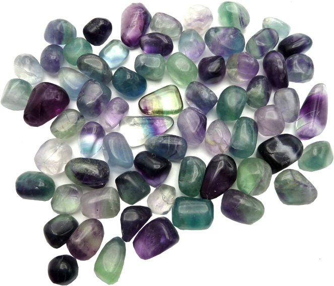 Fluorite multicolore extra Small roulées 250g