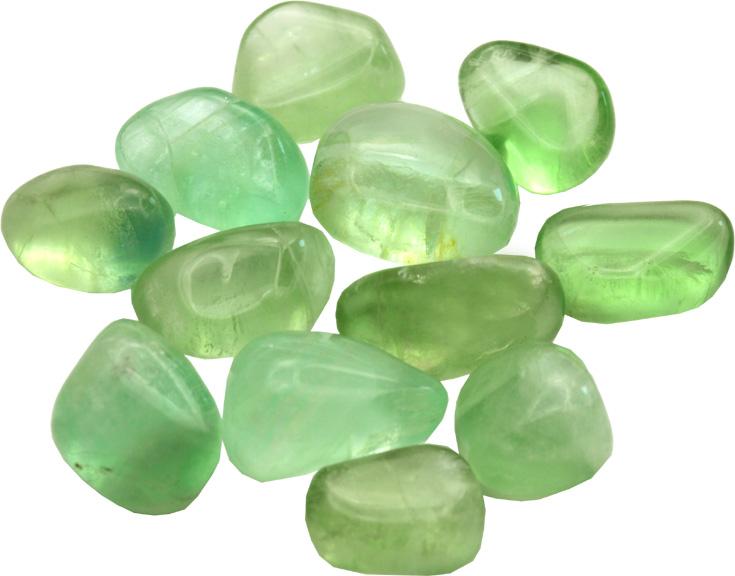 Fluorite verte extra pierres roulées 250g